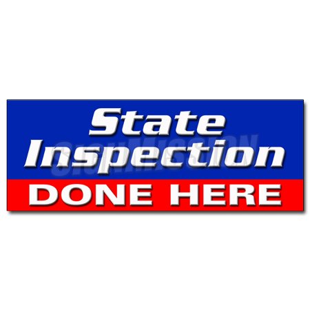 STATE INSPECTION DONE HERE DECAL sticker law inspector