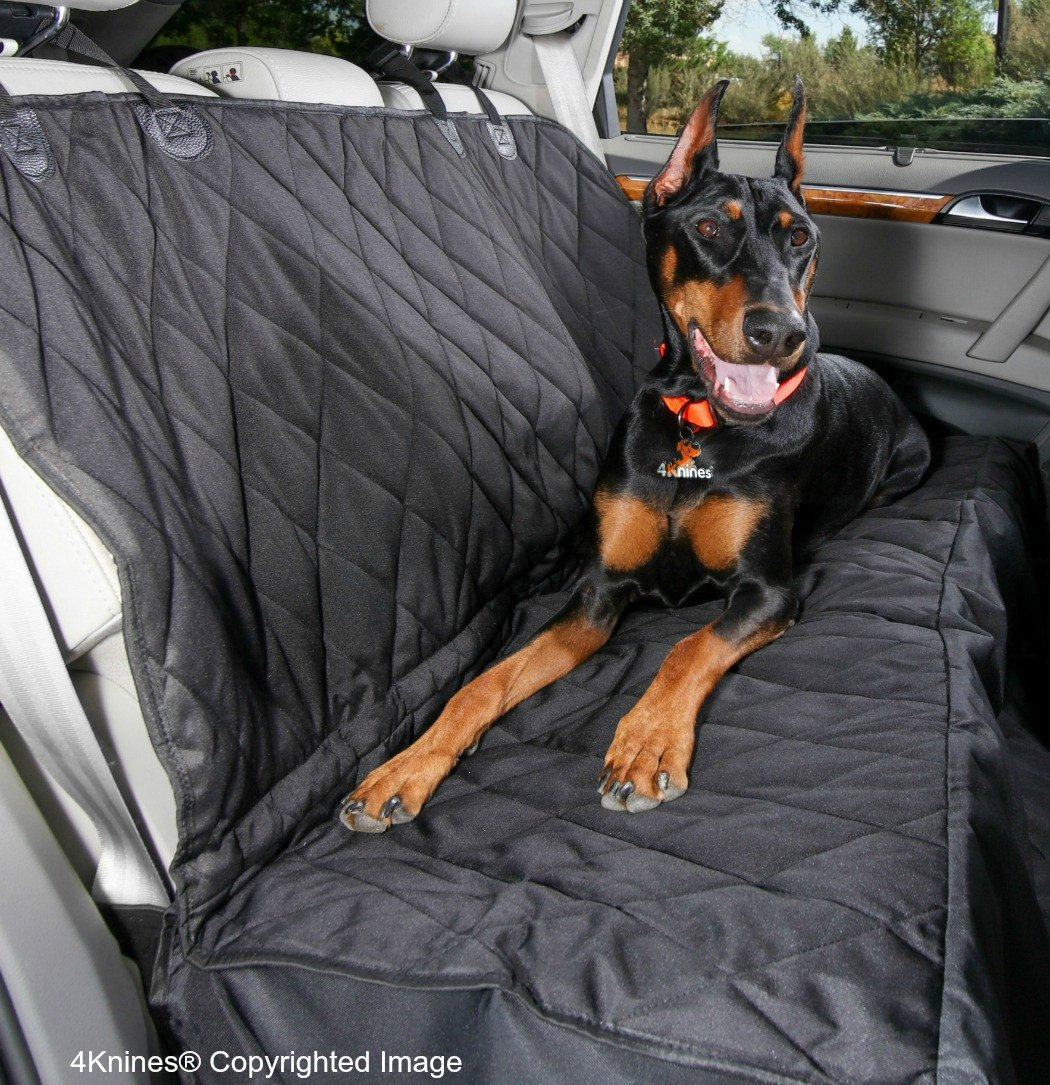 4Knines Rear Seat Cover w/Hammock, Regular, Black