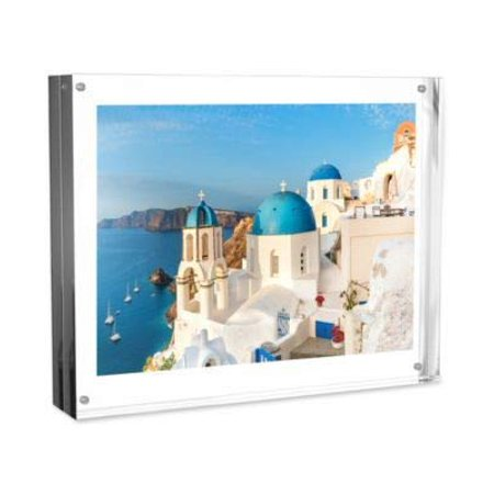 - Acrylic Picture Frame 8x10? Clear Freestanding Block Frame with Double Sided Photo, Art, Certificate Display and Magnetic Closure by Lavish Home