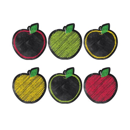 CHALK IT UP APPLES 6IN DESIGNER CUT OUTS (Cut Out Buddies Apples)