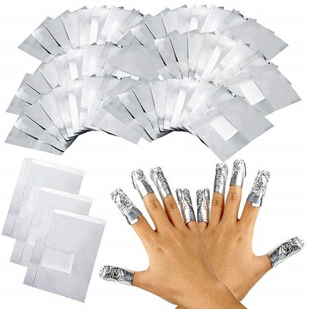 100pcs Aluminium Foil Nail Art Soak Off Acrylic Gel Polish Wrap Remover - Nail Wraps Halloween