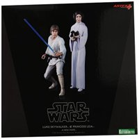 Kotobukiya Star Wars: Luke Skywalker and Princess Leia ArtFX+ Statue