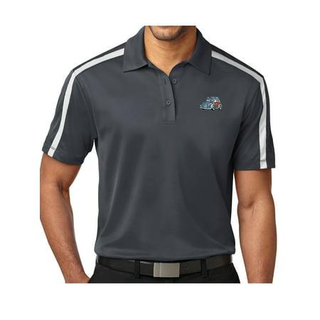 "Mens ""Blue Woodie"" Premium Polo Shirt - White/Black, Extra-Small - image 1 of 2"