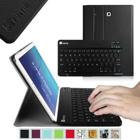 new concept b99a1 17344 Fintie Case for Samsung Galaxy Tab E 9.6 Tablet - Smart Slim Shell Cover  with Removable Bluetooth Keyboard, Black
