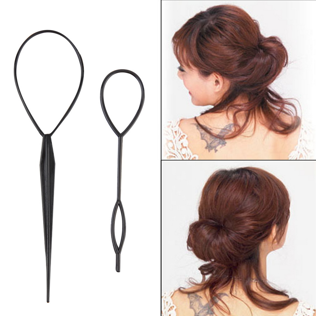 Walmart Hair Styling Tools 2017 New 2 Pcs Ponytail Creator Plastic Loop Styling Tools Black .