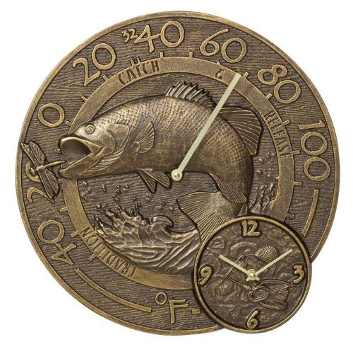 Bass Thermometer Clock - French Bronze