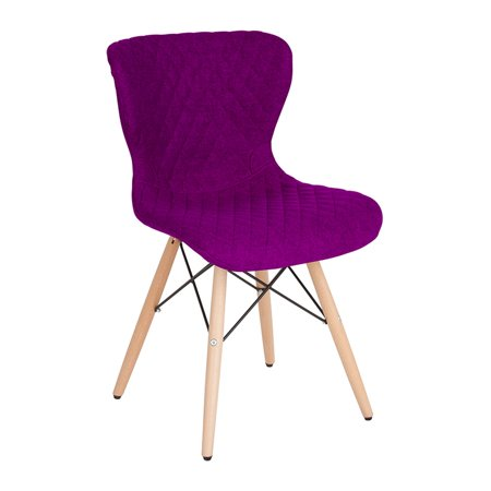 Prime Offex Contemporary Upholstered Accent Side Chair With Wooden Legs In Purple Fabric Gamerscity Chair Design For Home Gamerscityorg