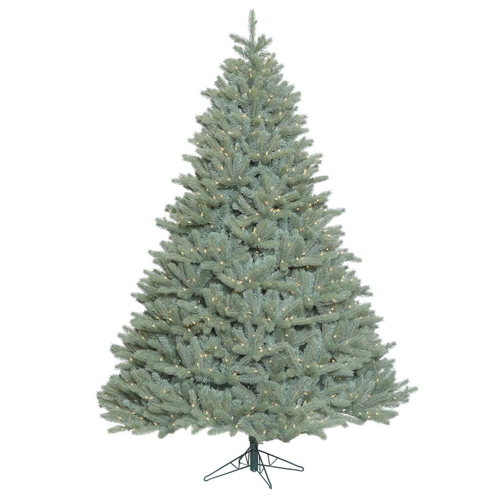 "Vickerman 408506 - 10' x 82"" Colorado Blue Spruce Tree with 1,850 Clear Lights Christmas Tree (A164786)"