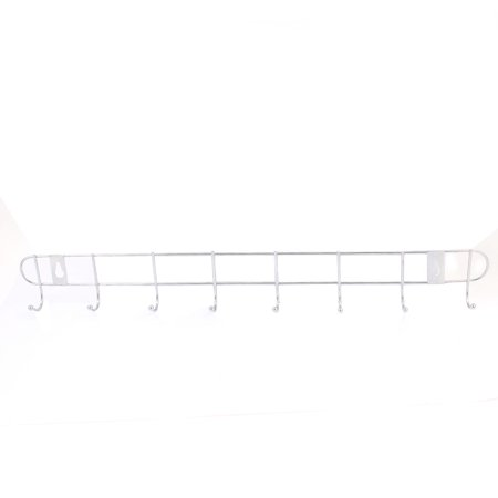 Home Utility Aluminum Wall Mounted Hook Rail Towel Coat Rack (Aluminum Hook Style Surface Mount)