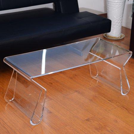 Homcom 38 Modern Acrylic Coffee Table