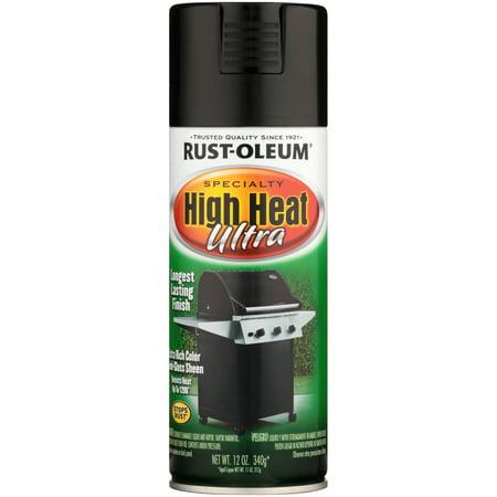 Rust-Oleum Specialty High Heat Ultra Black Spray Paint, 12 oz