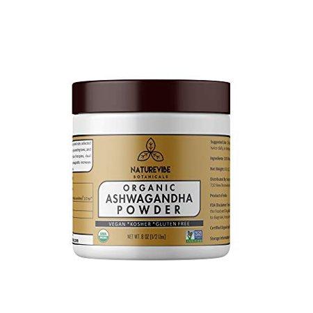 Ashwagandha Winter Cherry Powder - Naturevibe Botanicals  Organic Ashwagandha Root Powder 8 oz