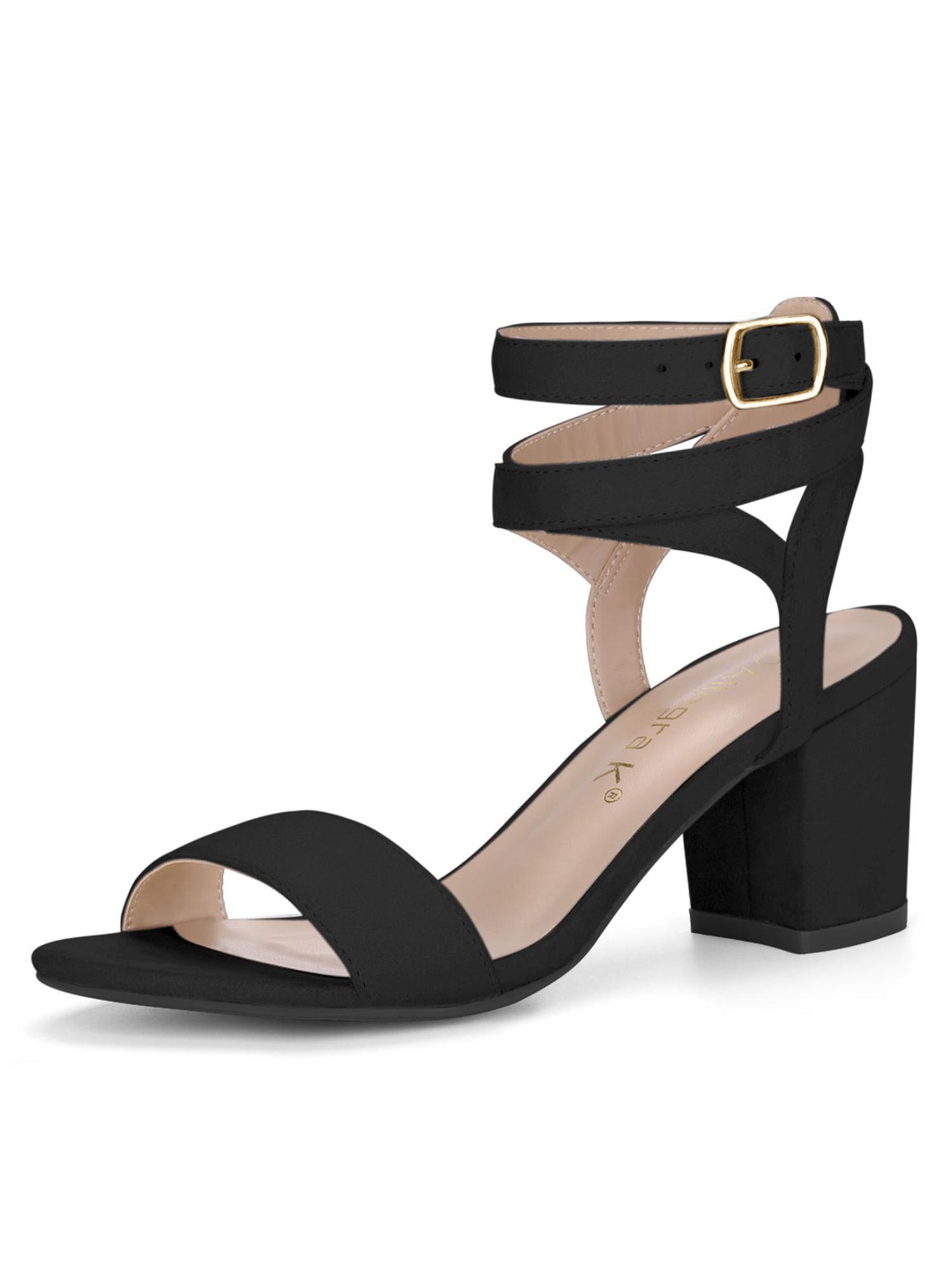d05558390f7 Unique Bargains Women s Crisscross Cutout Mid Block Heel Ankle ...