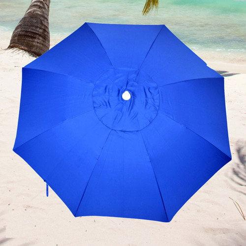 Solar Guard 7.5' Fiberglass Heavy Duty Beach Umbrella