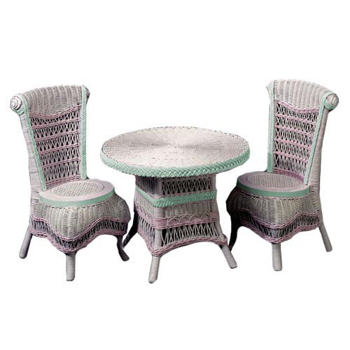 Classic Wicker Table and Chair Set by Yesteryear Wicker