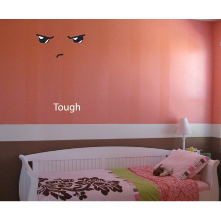 Tough Face Expression Wall Decal Vinyl Decal Car Decal Idcolor042 25 I