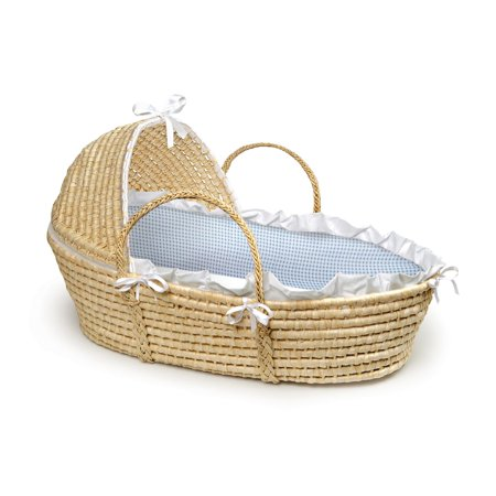 Badger Basket Moses Basket with Hood, Blue