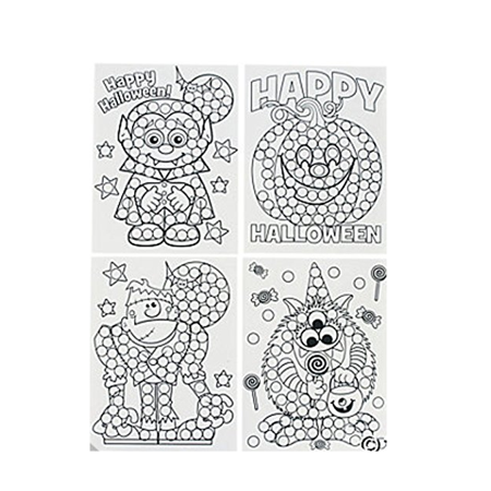 Halloween Dot Marker Activity Sheets, Do-a-Dot Marker Pages, Preschool Dot Activity