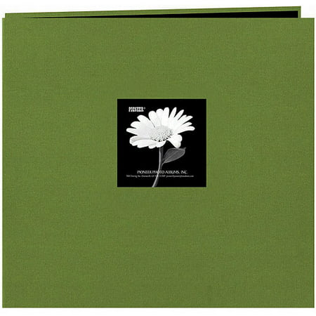 Pioneer 12 x 12 Fabric Frame Scrapbook Herbal Green ()