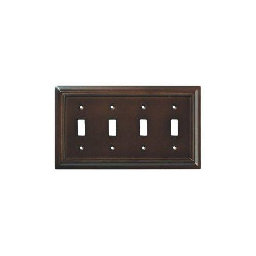 Brainerd Wood Architectural Quad Switch Wall Plate