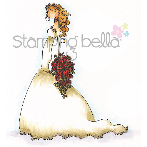 Stamping Bella Cling Rubber Stamp, Uptown Girl Brigitte The Bride