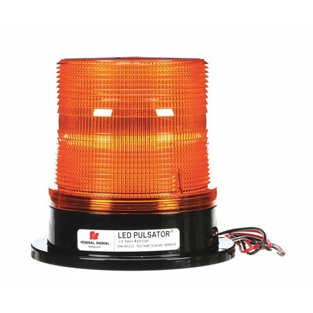 LED Beacon Light,Perm/Pipe Mt,Amber FEDERAL SIGNAL 212650-02