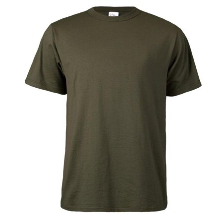 Short Sleeve Tee Shirt for Adult, Olive Drab Green - Large