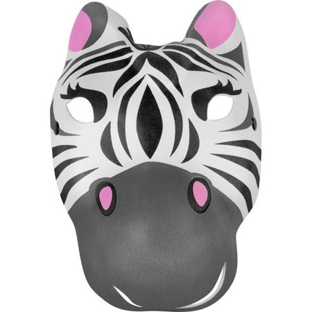 Zebra Mask (Foam Zebra Mask)