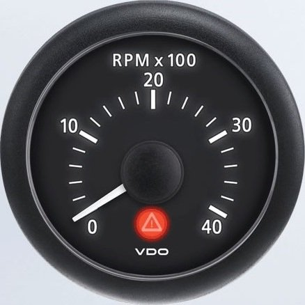 Vdo A2c53210903 S Tachometer    0 Rpm   4 000 Rpm   Electronic   Viewline Onyx   Bezel Not Included