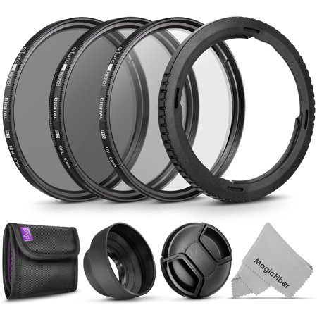 Canon Rubber Eyecup (Essential Accessory Kit for CANON PowerShot SX60 HS and SX530 HS – Includes: 67mm Altura Photo Filter Kit (UV-CPL-ND4) + Carrying Pouch + Collapsible Rubber Lens Hood + Center Pinch)