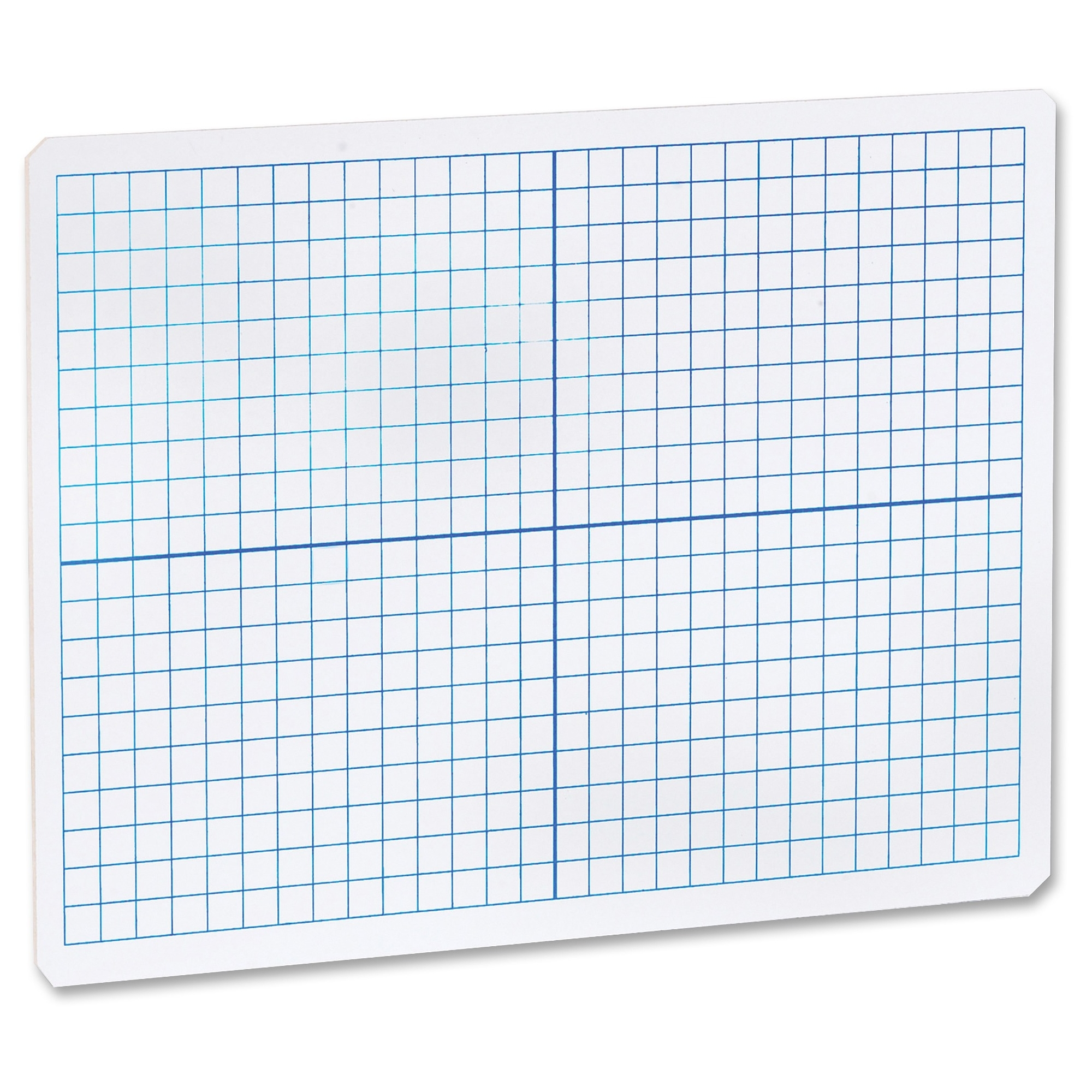 "Flipside Grid/plain 2side Dryerase Lap Board - 12"" [1 Ft] Width X 9"" [0.8 Ft] Height - White Surface - Rectangle - Portable - 1 Each (flp-11000)"