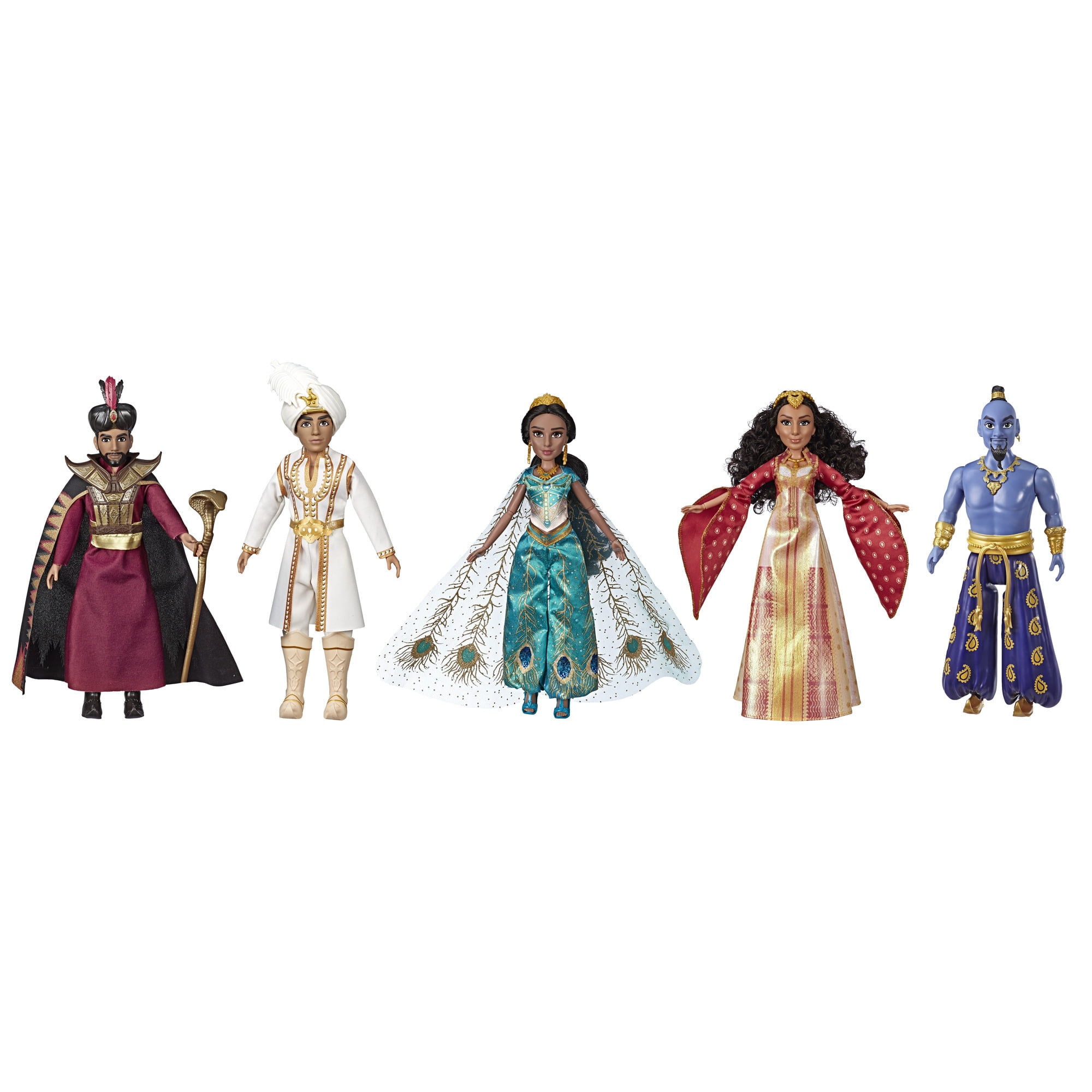 Disney Aladdin Agrabah Collection with 5 Fashion Dolls Live-Action Movie Kid Toy