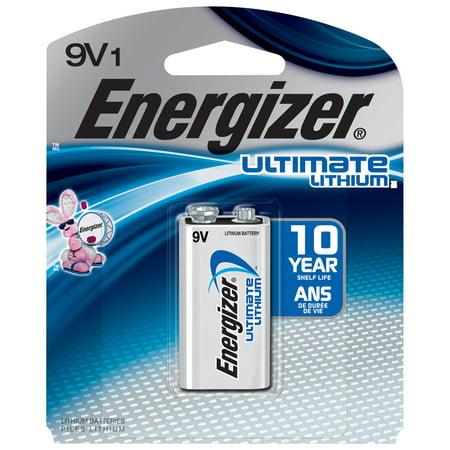 Energizer Ultimate Lithium 9V Batteries, 1- Pack ()
