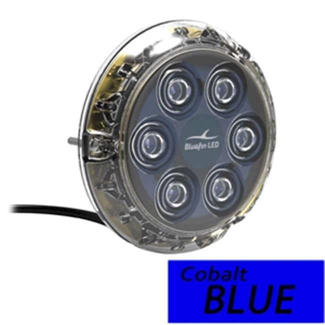 Bluefin LED P6N-SM-B117 Piranha P6 Nitro SM Underwater 24 V Light, Cobalt Blue