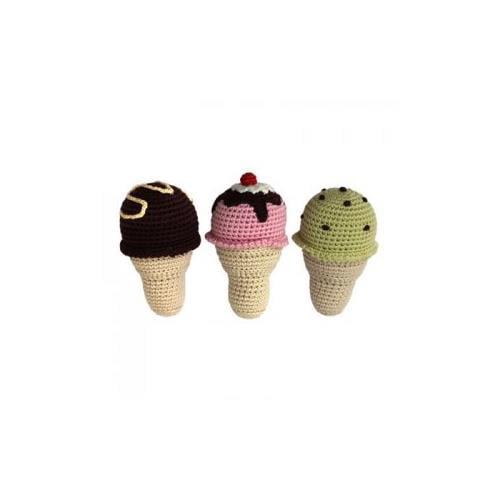 Cheengoo Organic Baby Rattle Ice Cream Cone by Cheengoo