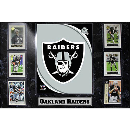 NFL Oakland Raiders 6-Card Plaque, 13x20
