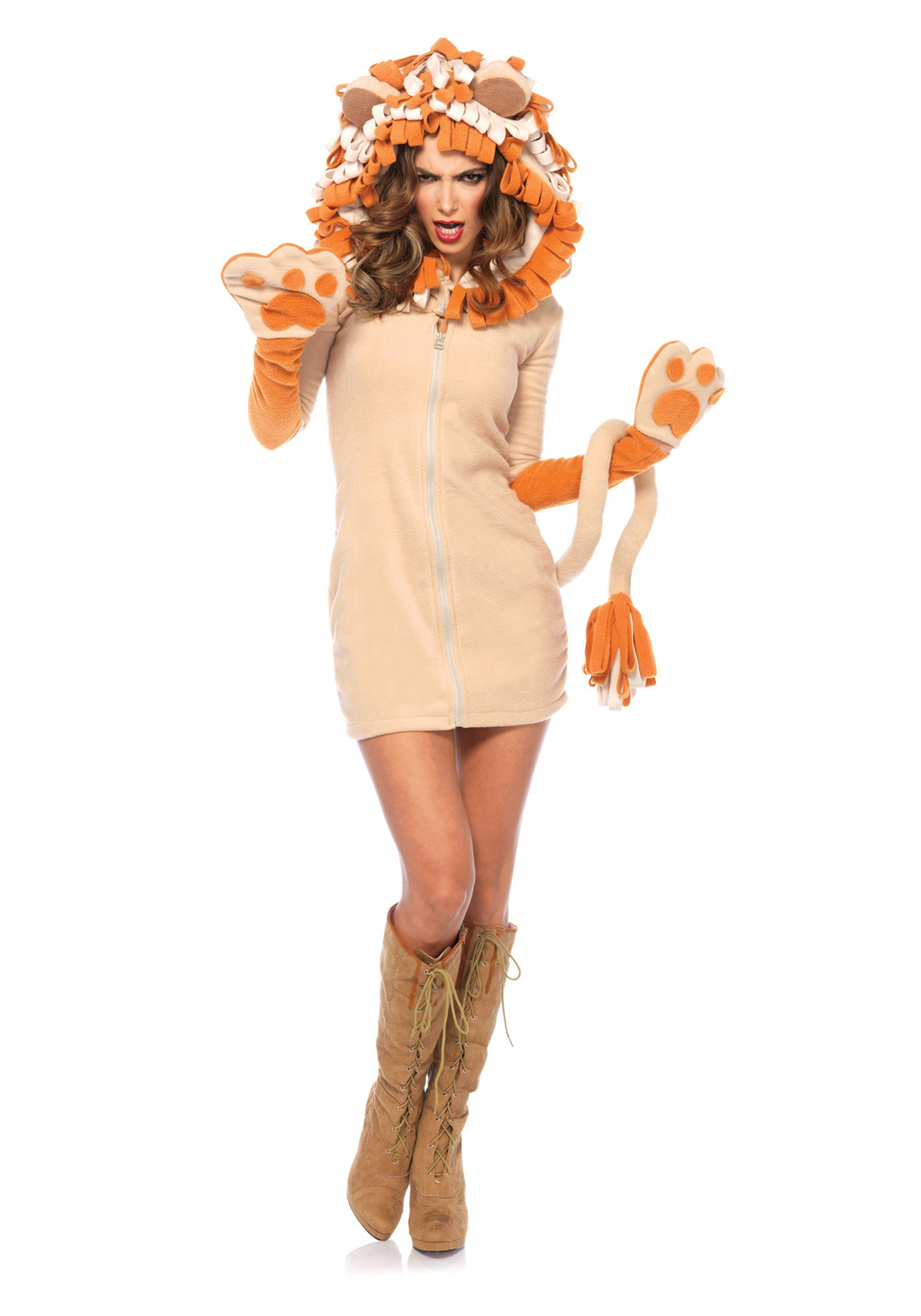 Women S Cozy Lion Costume