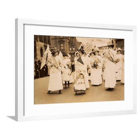Suffrage Parade NYC 1912 Framed Print Wall Art (Halloween Parade Map Nyc)