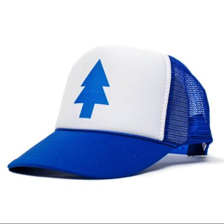 42f842097 Gravity Falls Tree Blue/White Deluxe Trucker Hat