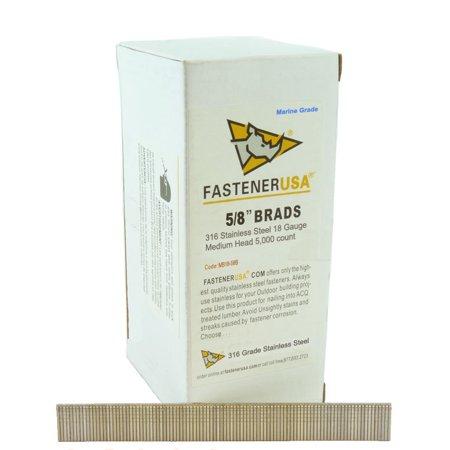 5 8 BRAD NAILS 18 GAUGE 316 STAINLESS 5M Box