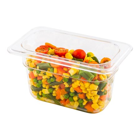 Cold Food Pan - Plastic Cold Food Storage Container - 1/9 Size - 4