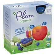 Plum Organics Applesauce Mashups Blueberry Carrot, 3.17oz (Pack of 4)