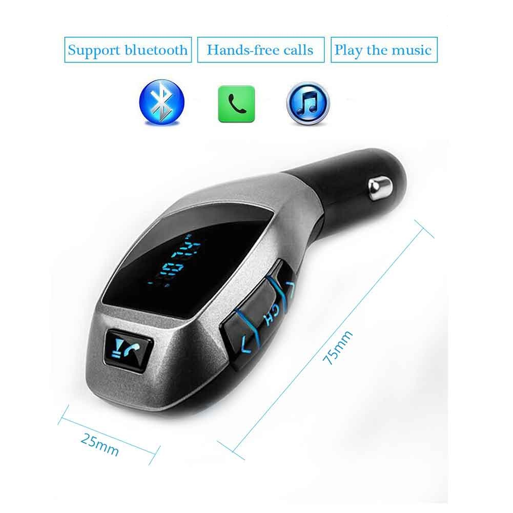 100% Brand New Bluetooth FM Transmitter Modulator USB Car MP3 Music Player support USB SD Bluetooth for Hands-Free Play Songs Music