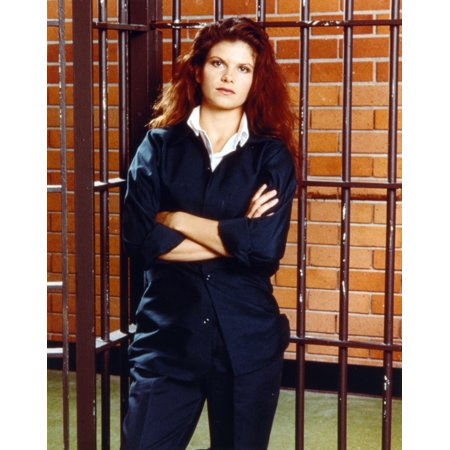 Lolita Davidovich Arms Crossed Jail Background Photo Print ()