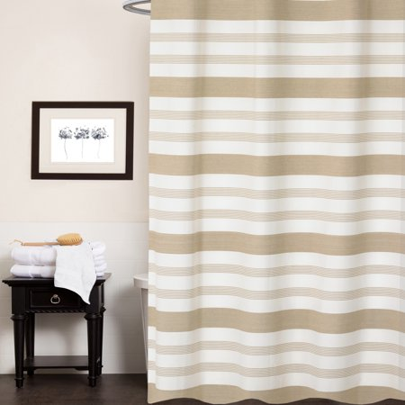 """Nowell 100% Cotton Fabric Striped Shower Curtain 70"""" x 72"""""""