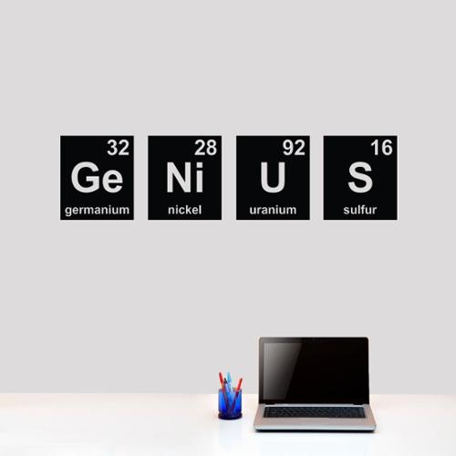 Sweetums Signatures Genius Periodic Table 48 x 12 Wall Decal