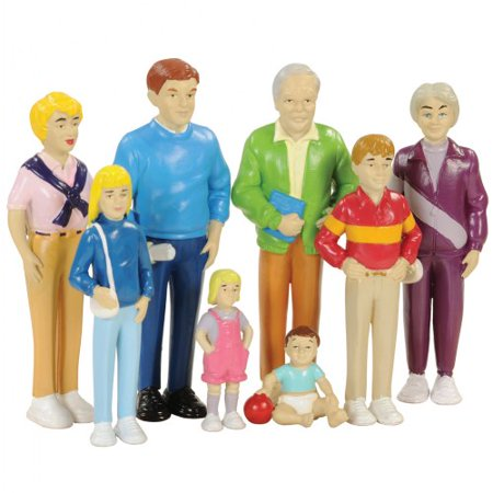 - Caucasian Doll Family 8Pc