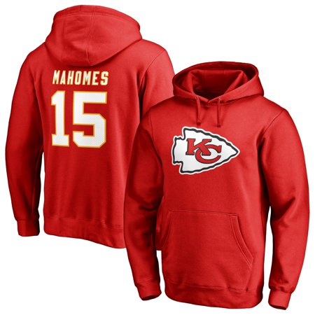 Team Logo Pullover (Patrick Mahomes Kansas City Chiefs NFL Pro Line by Fanatics Branded Team Logo Player Icon Name & Number Pullover Hoodie - Red)