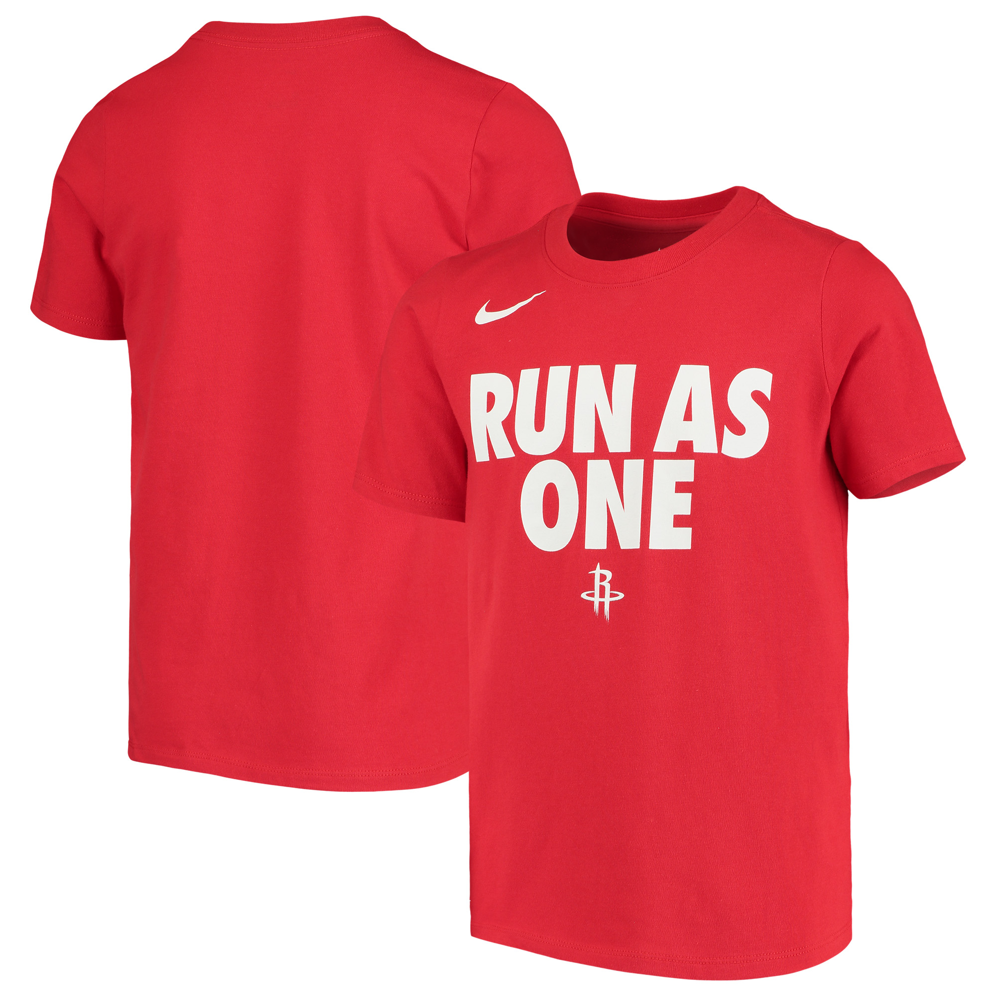 wholesale dealer 9d2e0 685fd Houston Rockets Nike Youth Team Attitude Performance Cotton T-Shirt - Red