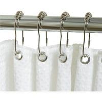 Zenith Chrome Roller Shower Curtain Hook (12 Count) SSR003SS